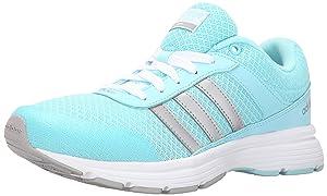 adidas NEO Women's Cloudfoam VS City W Casual Sneaker,Blue/Metallic Silver/Clear Onix Grey,5.5 M US
