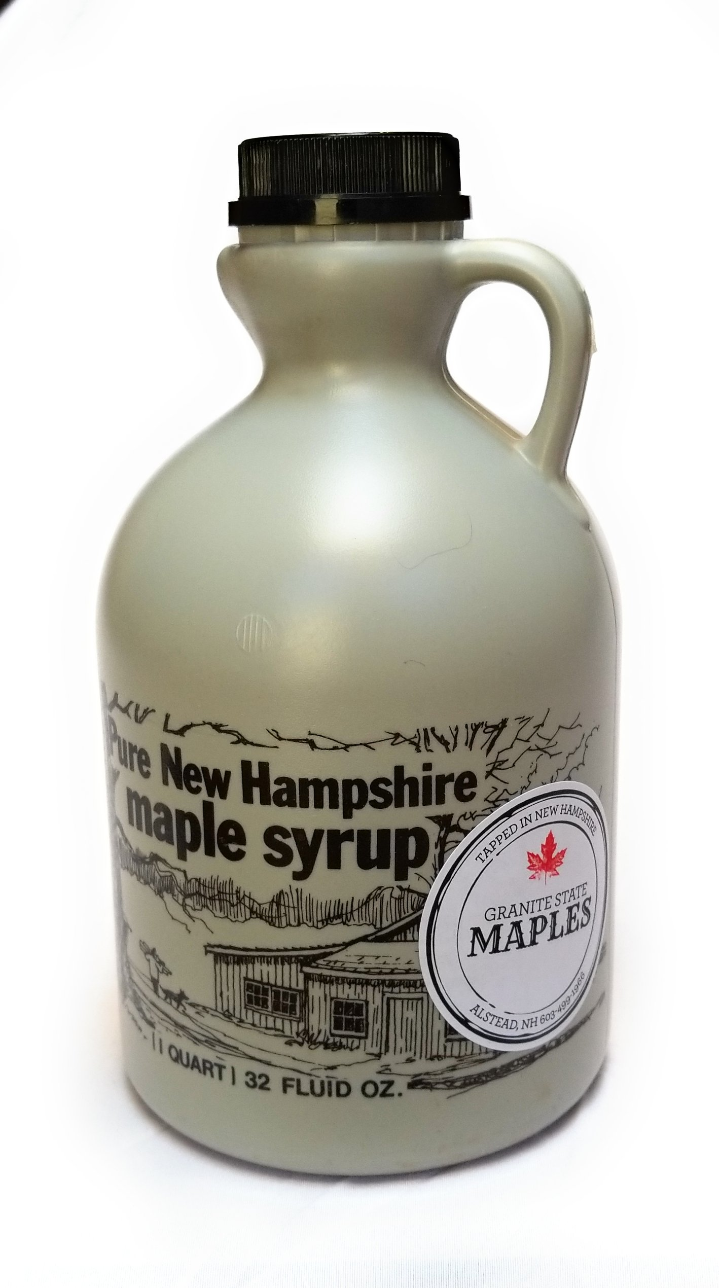 Granite State Maples 32Fl Oz.(1 Quart) Pure New Hampshire Maple Syrup, Grade A