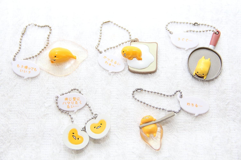 5x Gudetama The lazy Egg Danglers keychains charm Hanger Blind packs