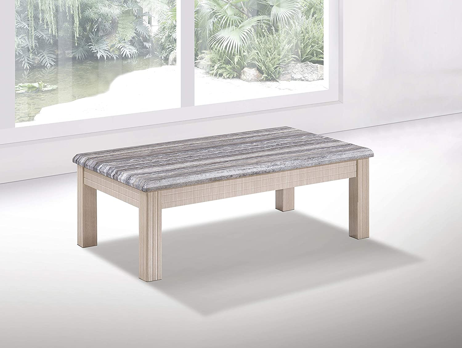 Furniture Express Oak Marble Effect Coffee Table