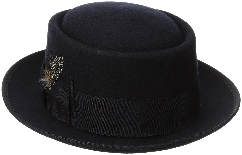 5e6973259a6 Stacy Adams Men s Wool Rocker Fedora at Amazon Men s Clothing store   Porkpie Hat Black