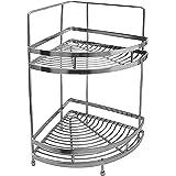 Klaxon Stainless Steel Double Shelf Basket (Silver)