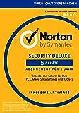 Norton Security Deluxe 2018 | 5 Geräte | 1 Jahr | PC/Mac/iOS/Android | Download