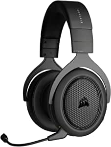 Corsair HS70 Bluetooth - Wired Gaming Headset with Bluetooth - Works with PC, Mac, Xbox Series X, Xbox Series S, Xbox One, PS5, PS4, Nintendo Switch, iOS and Android - Carbon/Black