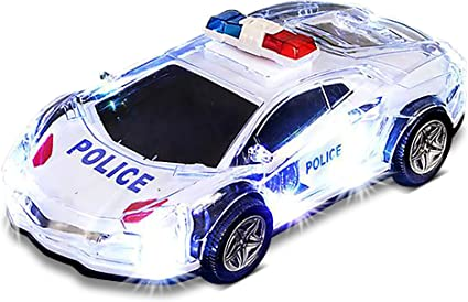 Coche de juguete con bater/ía para ni/ños con luces y sirenas TR-999 Modelo de metal fundido con escala 1:32 Regalos de cumplea/ños para ni/ños y ni/ñas para 2 3 4 a/ños Top Race Coche de Polic/ía Juguete