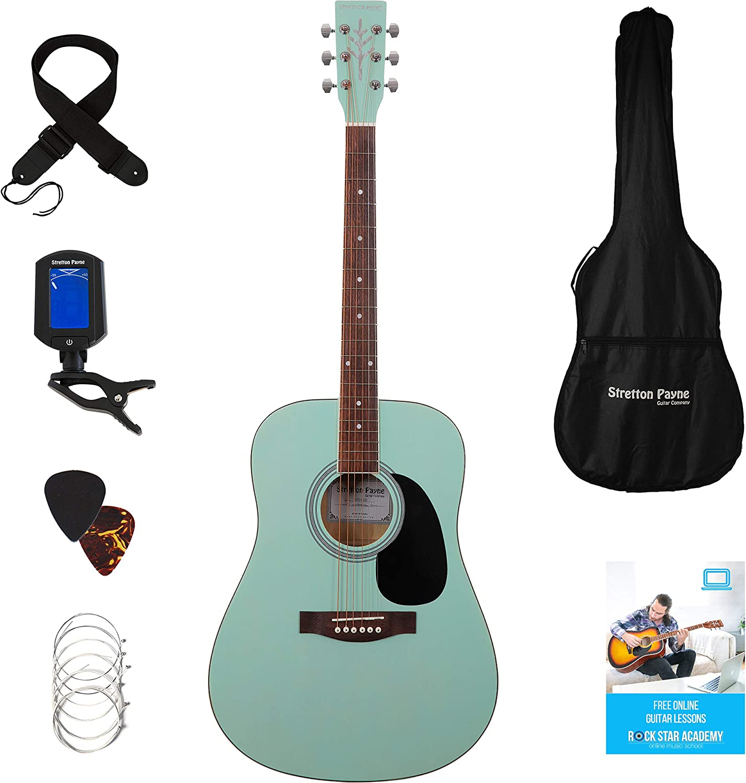 Stretton Payne Dreadnought D1 - Guitarra acústica (tamaño completo ...