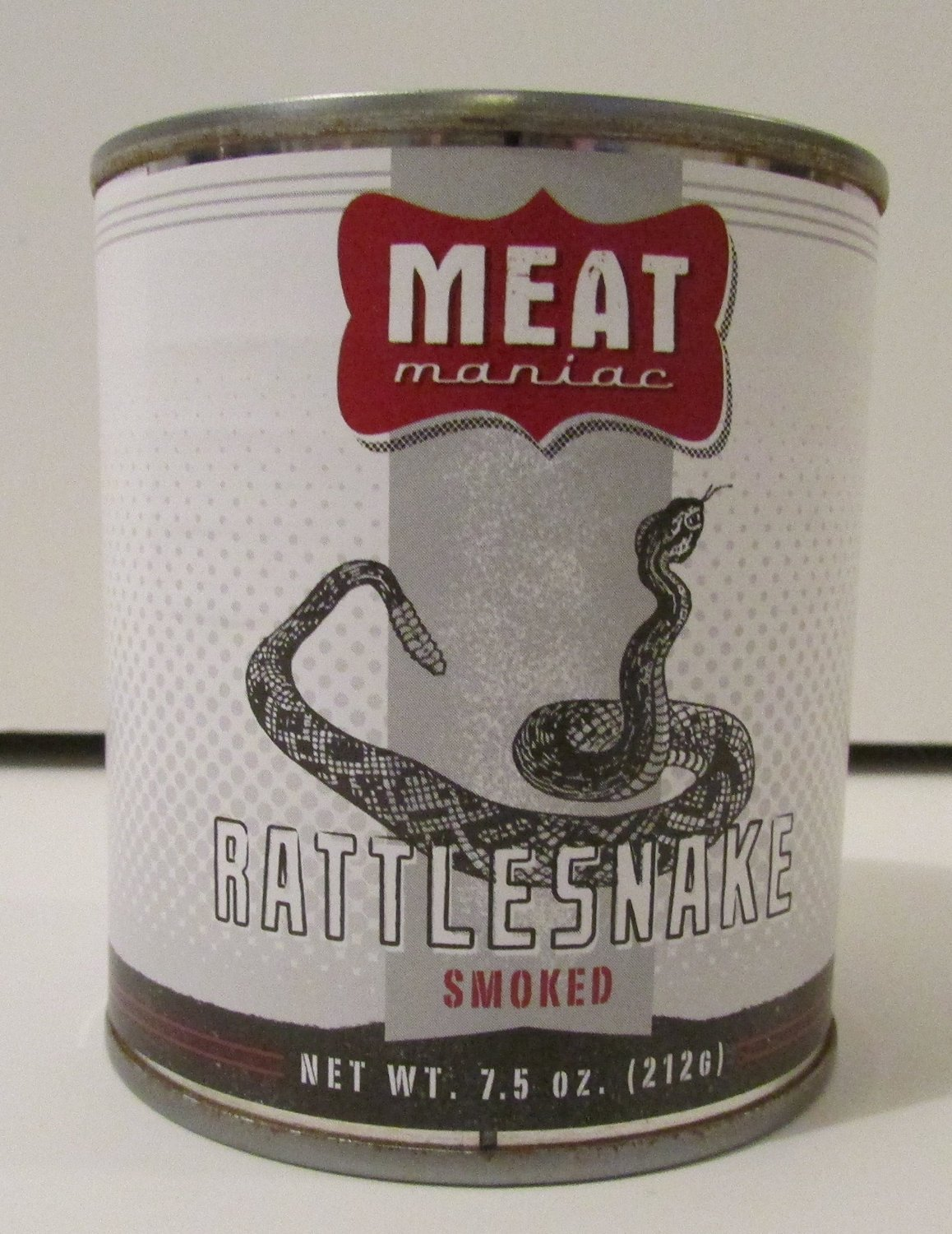 SMOKED RATTLESNAKE- Exotic Gourmet Canned Wild Game Meat