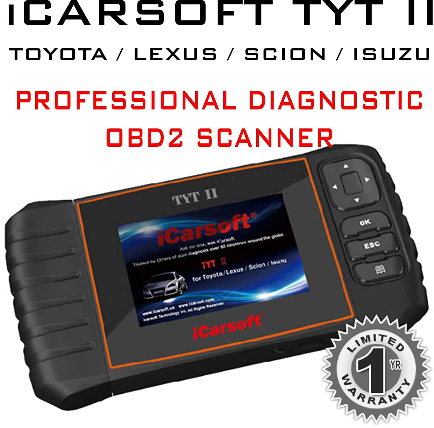 Amazon com: iCarsoft Multi-systems Scan Tool TYT II for