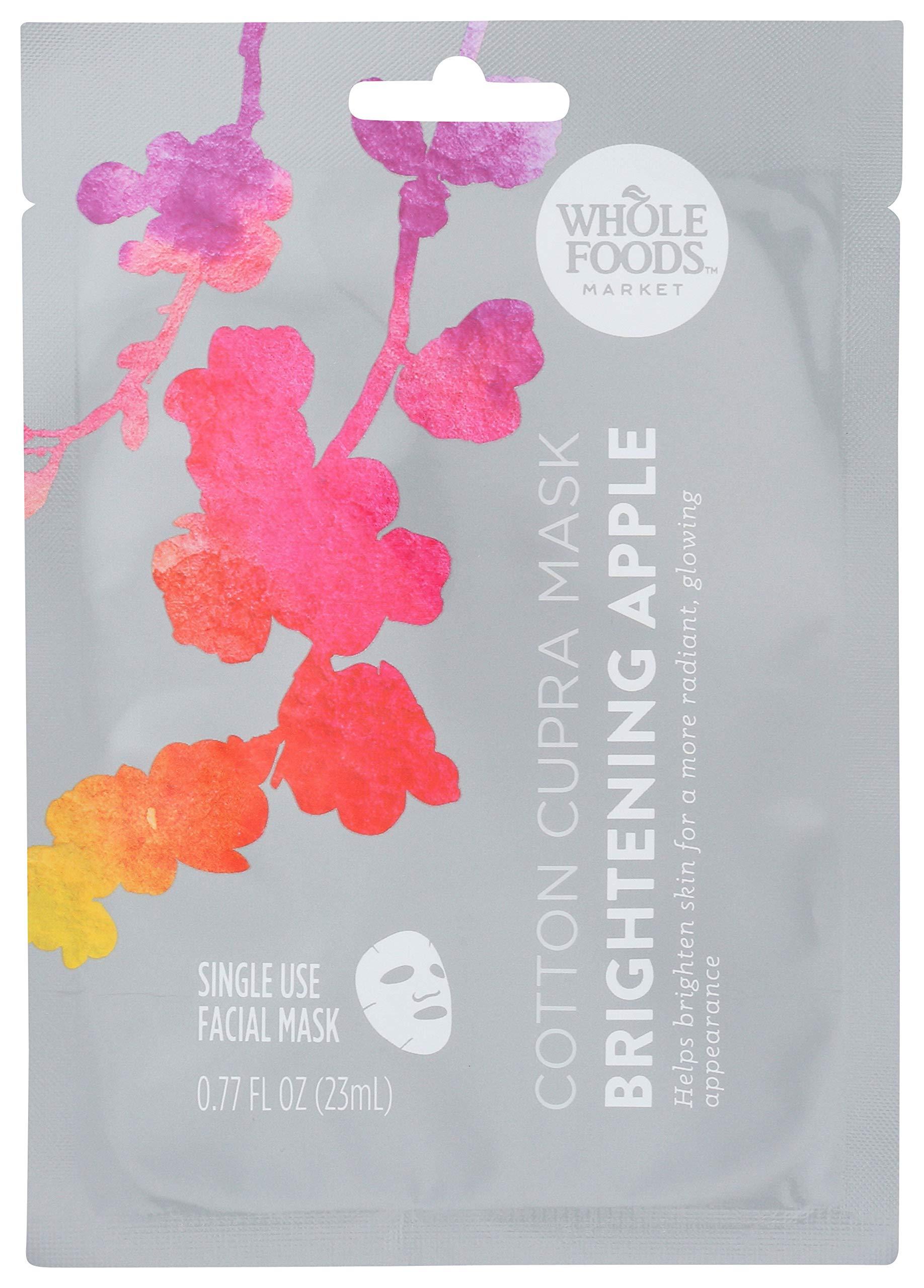 Whole Foods Market Cotton Cupra Mask, Brightening Apple, 0.77 fl oz