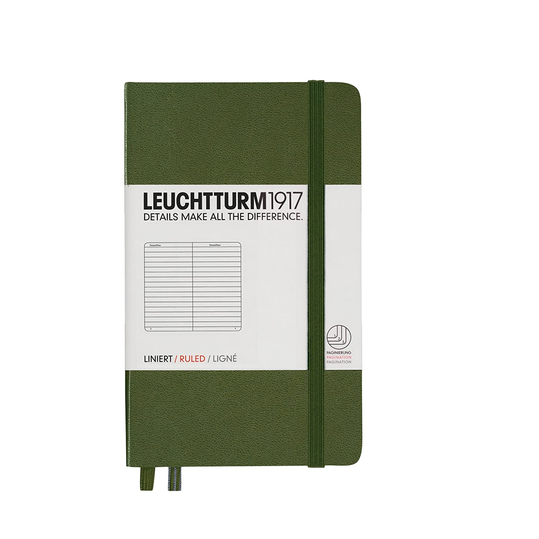 Leuchtturm1917 344796 Carnet Pocket A6 pointill/és 185 pages num/érot/ées citron