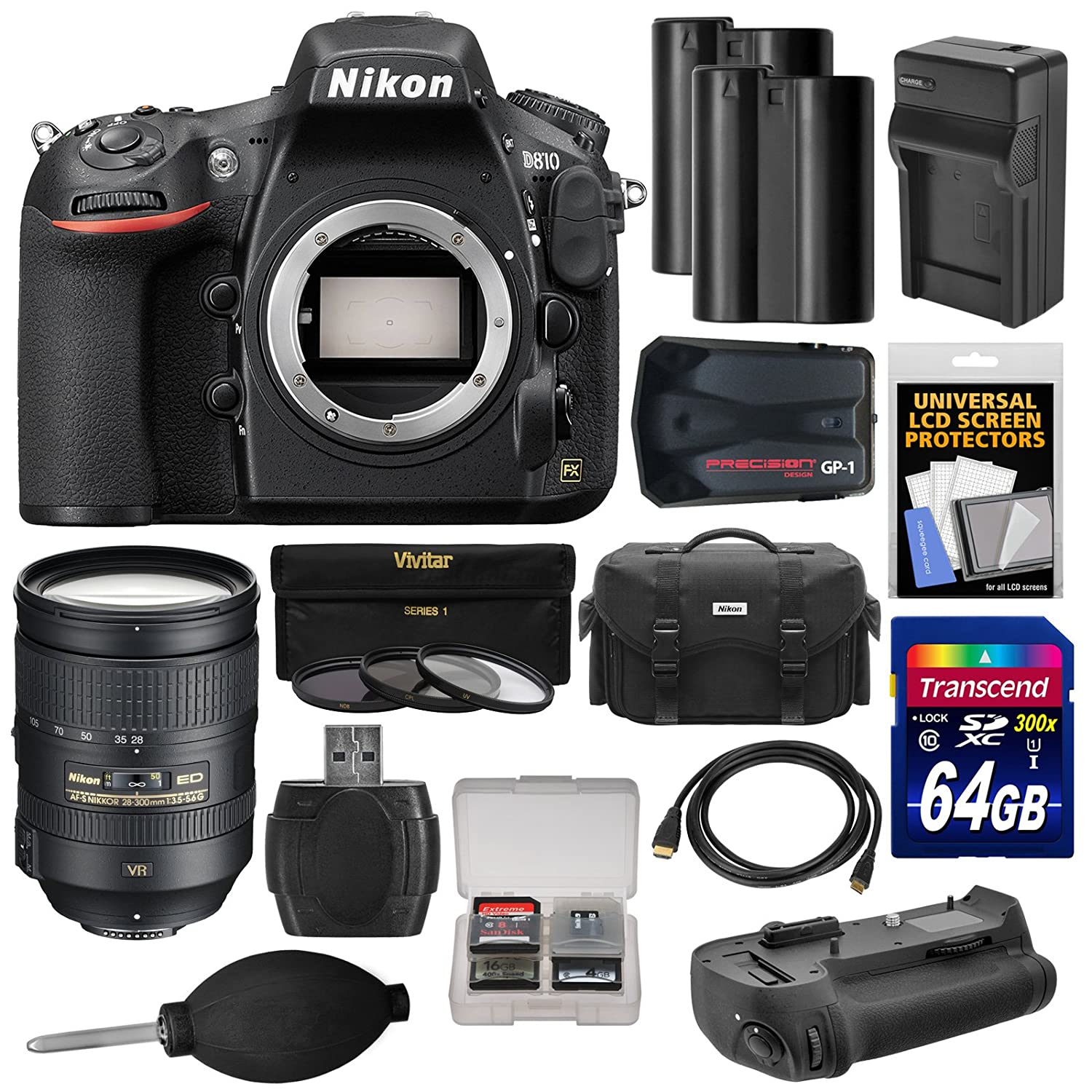 Camera Dslr Camera Lens Types amazon com nikon d810 digital slr camera body with 28 300mm vr lens 64gb card 2 batteriescharger case gps adapter grip