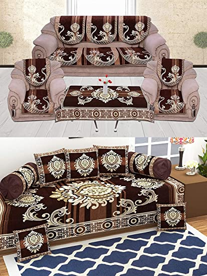 Groovy Sofa Cover And Diwan Set Combo Packs Amazon In Home Kitchen Lamtechconsult Wood Chair Design Ideas Lamtechconsultcom