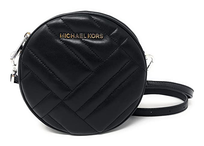 Michael Kors Vivianne Canteen Quilted Leather Crossbody Bag in Black ... e547855276814