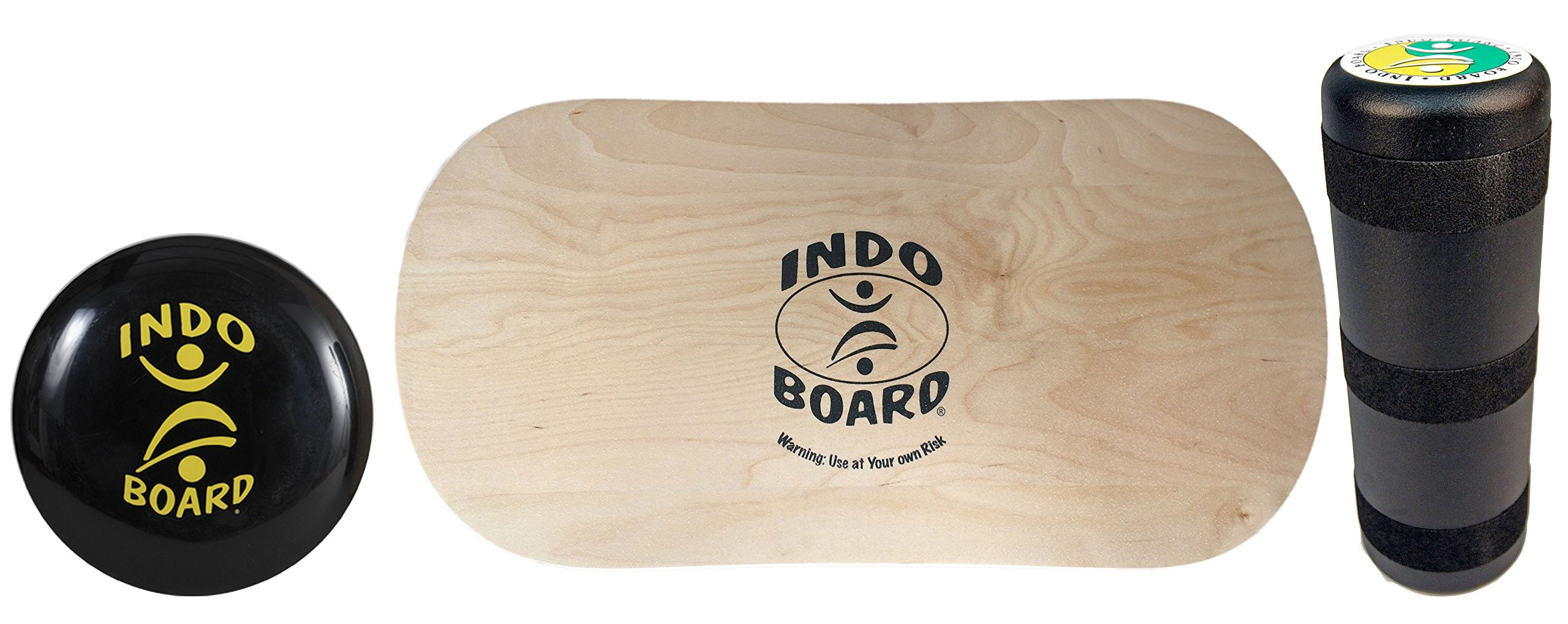 INDO BOARD Rocker Balance Board Package Ages, Improve Balance, Comes with 33'' X 15'' Non-Slip Deck 6.5'' Roller and 14'' Cushion - Natural Wood by INDO BOARD (Image #7)