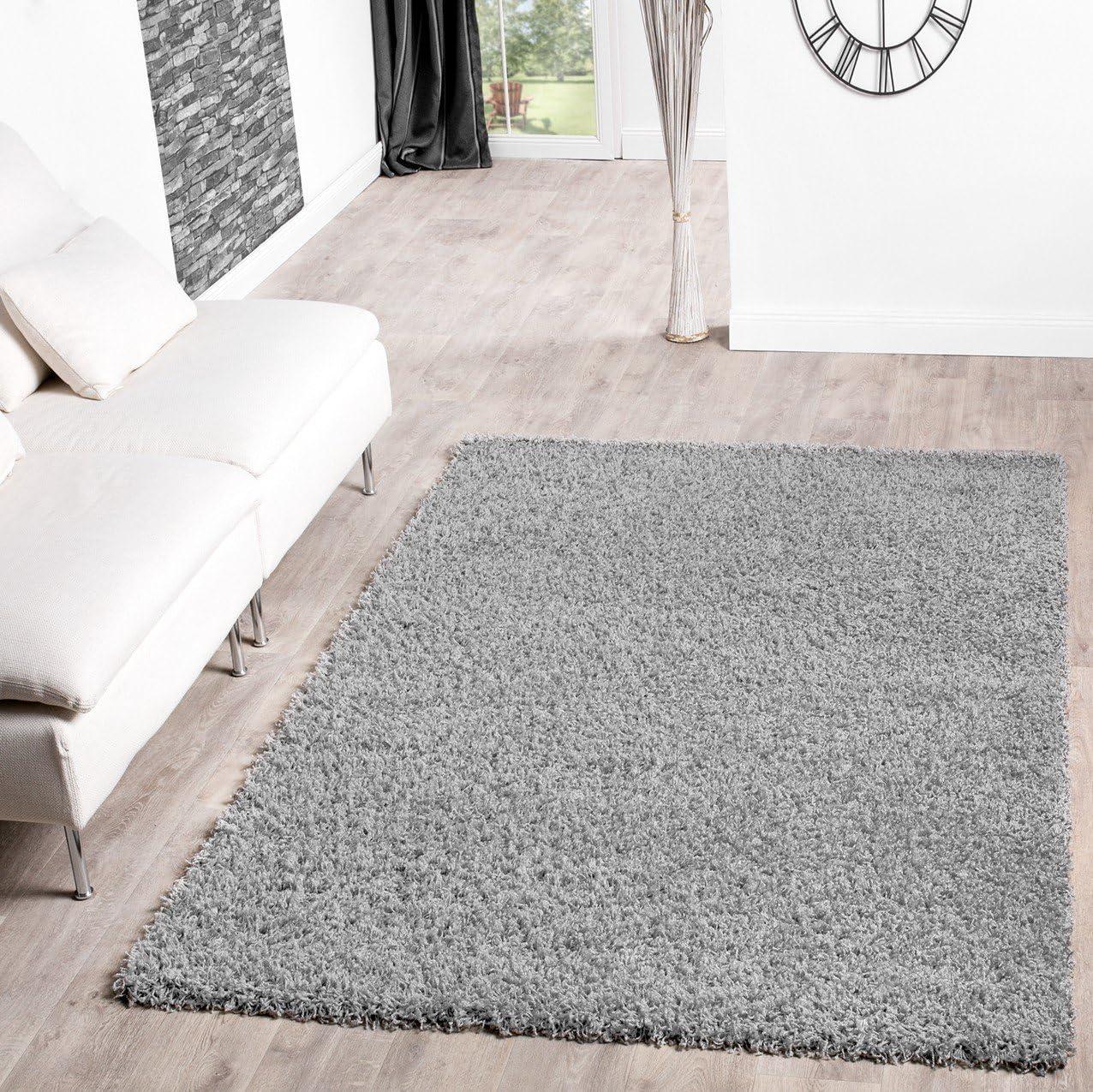 T&T Design Shaggy - Alfombra para salón, diferentes precios, varios colores, gris, 160 x 220 cm