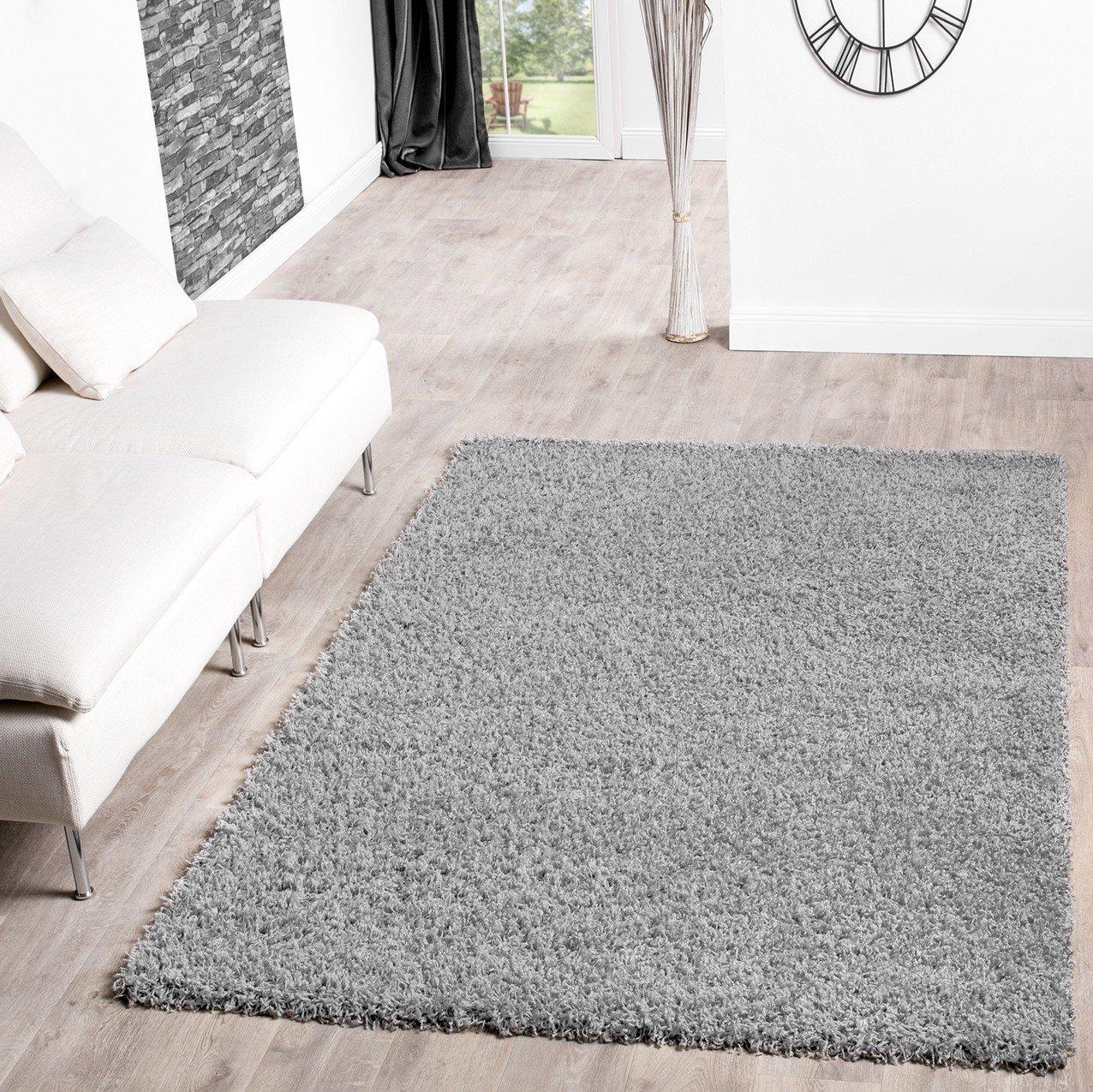 Teppich wohnzimmer grau  Shaggy Teppich Hochflor Langflor Teppiche Wohnzimmer Preishammer ...