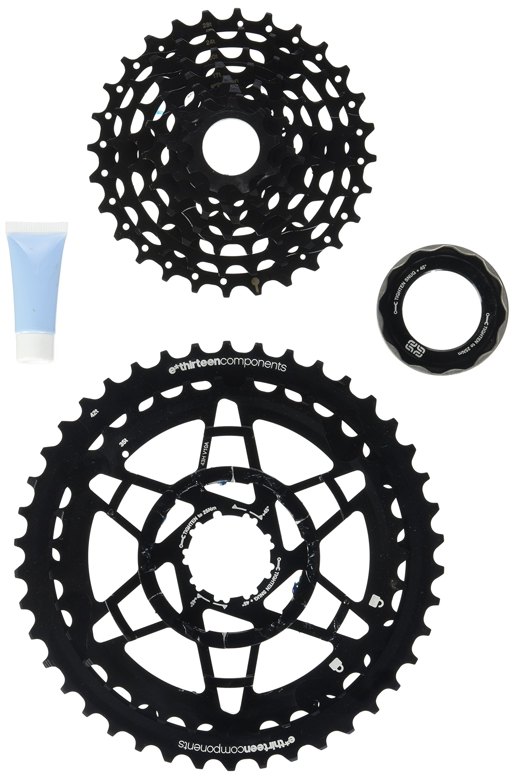 e*thirteen TRS Plus 10 speed 9-42t Cassette for XD Driver Freehubs, Black