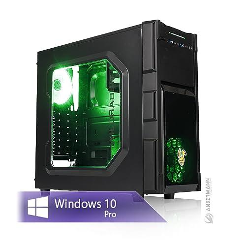 Ankermann Game Business Work Garantie de 24 mois, Intel Core i5-8500 6x 3Ghz GeForce GTX 1050 Ti 4GB 4K 8GB RAM 240GB SSD 1TB HDD Windows 10 PRO Silent PC