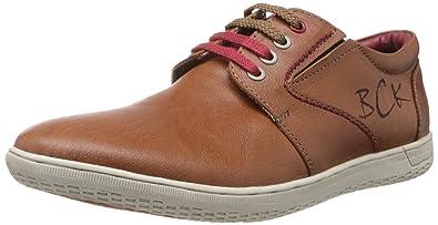 Buckaroo Men's Case T Tan Leather Sneakers - 11 UK