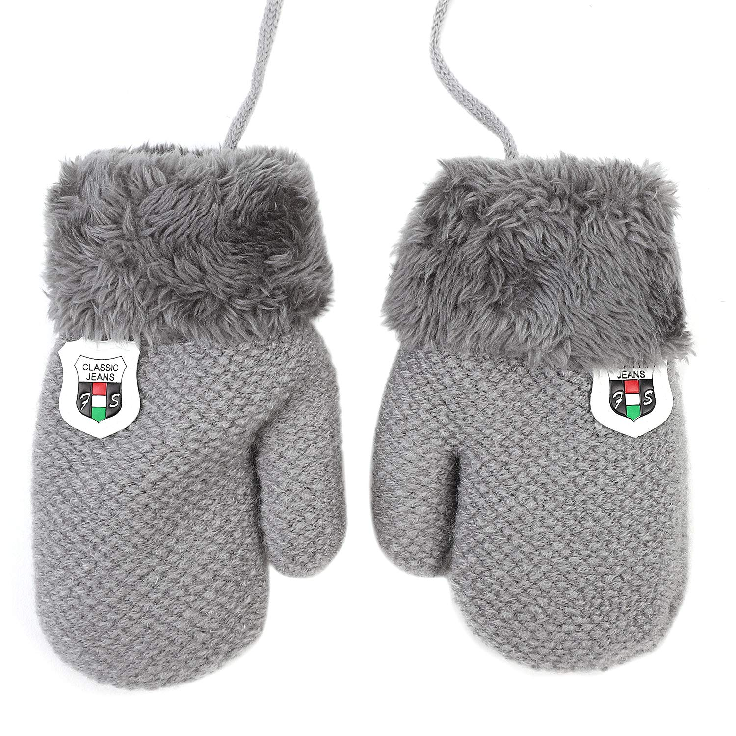 Baby Toddlers Knit Gloves Cold Weather Winter Thicken Warm Fleece Mittens Gloves