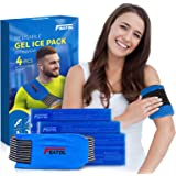 Gel Ice Pack for Injuries Reusable Warm & Cold Pack Compress Therapy Effective Relief Pain for Knee Strap, Neck, Elbow, Back,