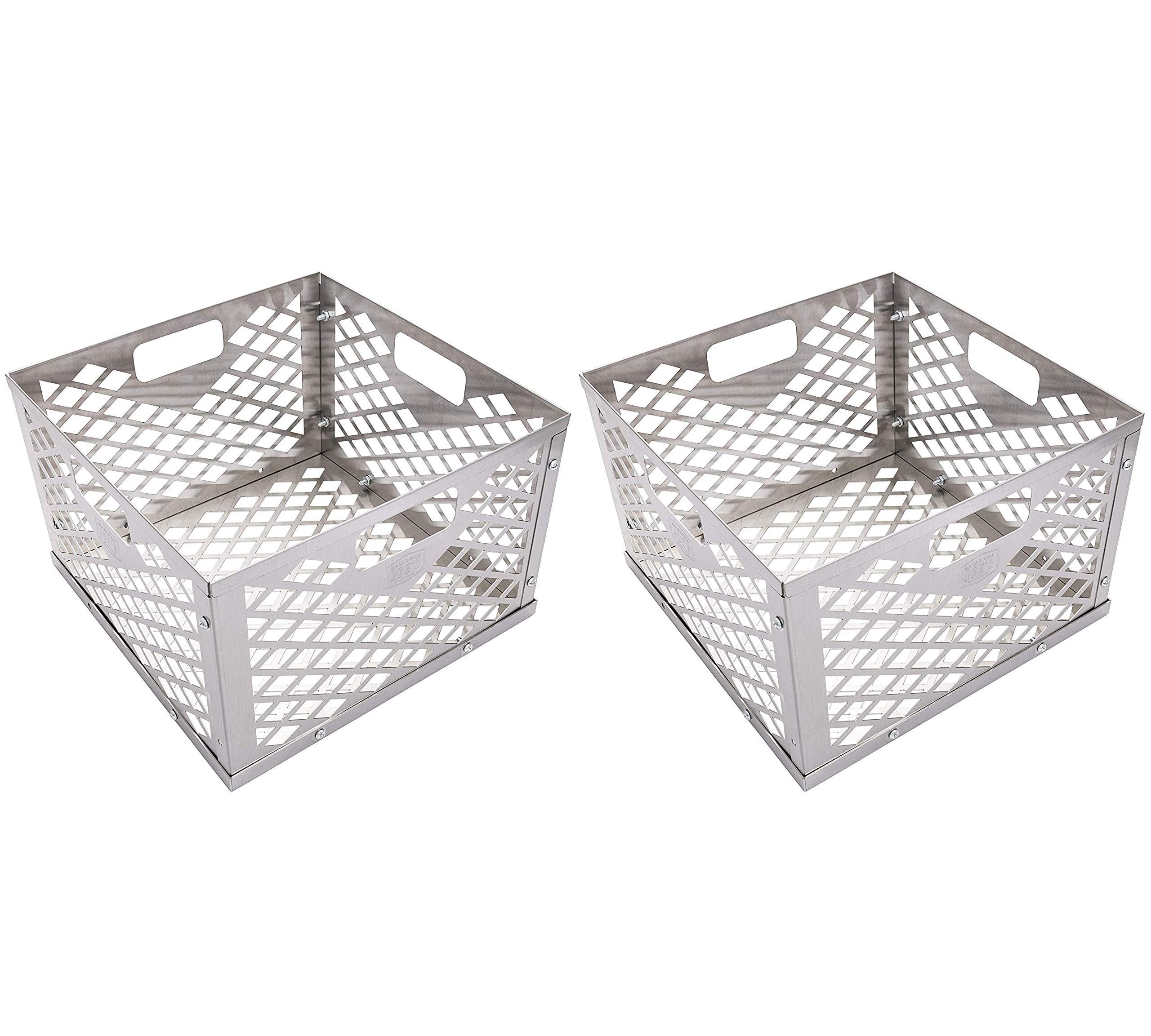 Oklahoma Joe's 5279338P04 Firebox Basket, Silver (Тwo Рack)