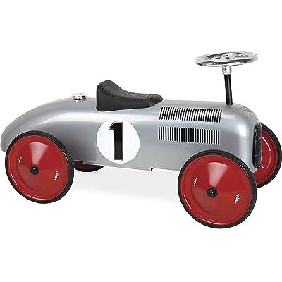 "Vilac Vintage Ride On Car, Metal Speedster. 30"" Long (Grey) : Baby"