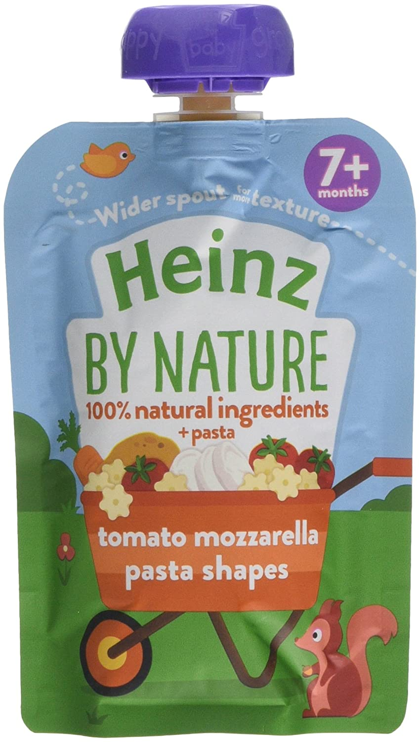 Heinz Tomato and Mozzarella Pasta Shapes Meal Pouch, 130 g (Pack of 5) The Kraft Heinz Company 76011023