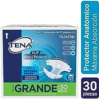 TENA Slip; Protector Anatómico para Incontinencia Urinaria, Talla Grande; 30 Pzas, 2 paq de 15 pzas