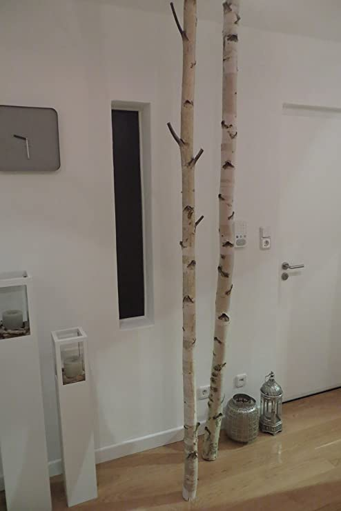 Perchero de pared con diseño de troncos de abedul Protector ...