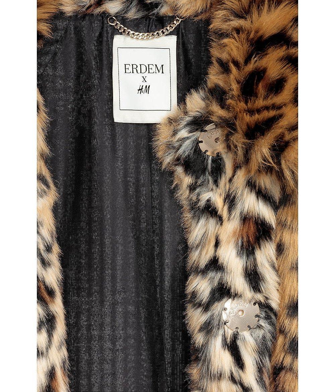 ERDEM x H&M - Abrigo - para mujer Leopardato 32 : Amazon.es: Ropa y accesorios