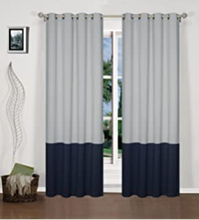 2 Panels Thermal Insulated Blackout Grommet Window Curtain Panel With  Tie Backs   52