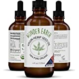 Wonder Earth Virgin Hemp Seed Oil - 100% Premium USDA Certified Organic Body, Hair & Face Moisturizer Unrefined Cold…