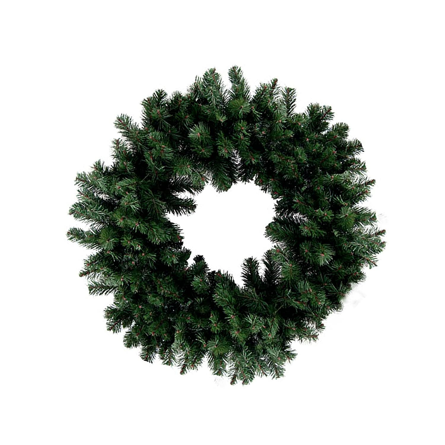36 Inches Brown, Green, Black 1 Single Large Size Decorative Holiday Wreath for Door Made of Resin w//Artificial Winter Fluffy Festive Christmas Pine Leaves /& Branches Style Custom /& Unique