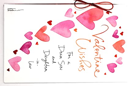 Amazon valentine card for son wife valentine wishes for a valentine card for son wife valentine wishes for a dear son and daughter m4hsunfo