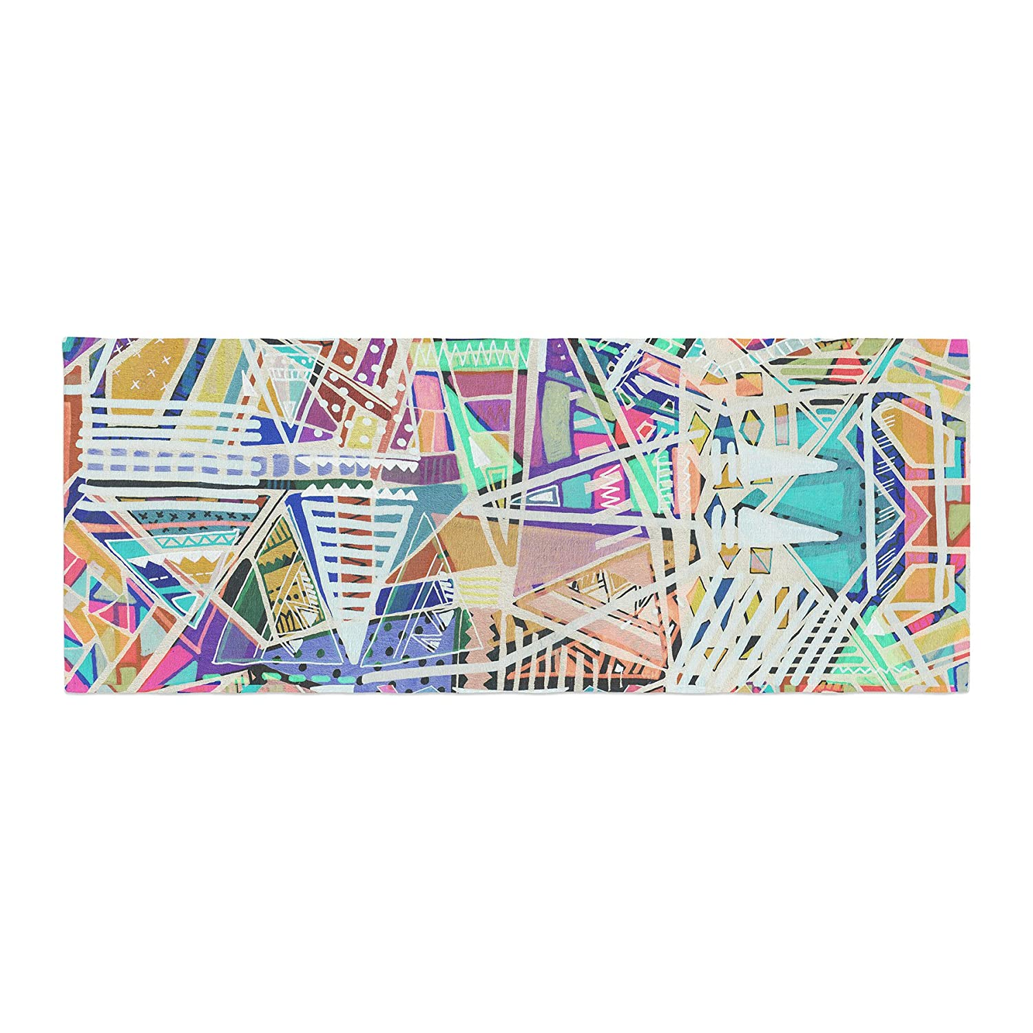 Kess InHouse Vasare NAR Abstract Geometric Playground Multicolor,Pastel Bed Runner