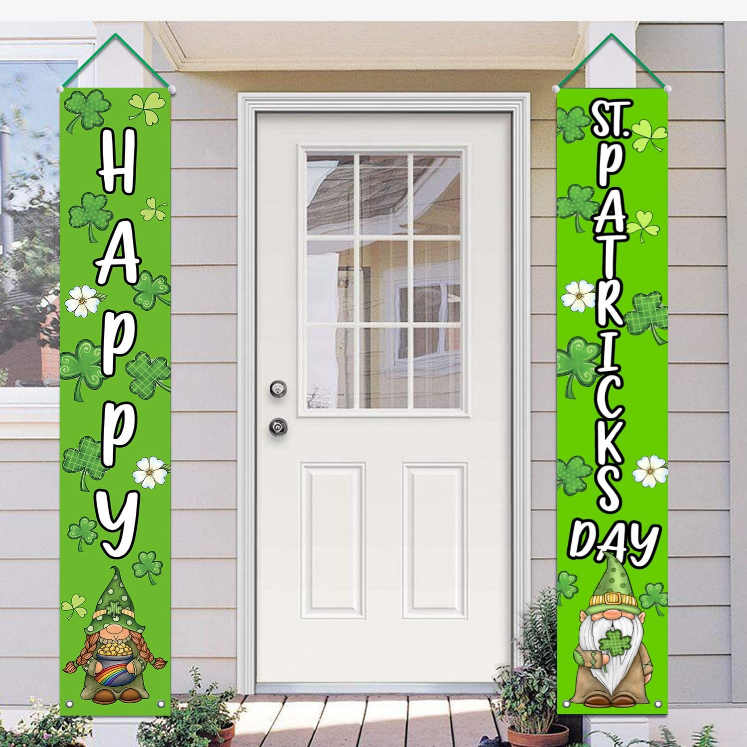 Lucky and I Gnome It Banner Irish Party Decor Funny Happy St Patty/'s Day Party Decorations Supplies St Patricks Day Gnome Banner Patrick/'s Day Decorations Glittery St