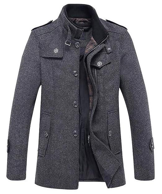 cappotto il lana nera senza cerniere o bottoni