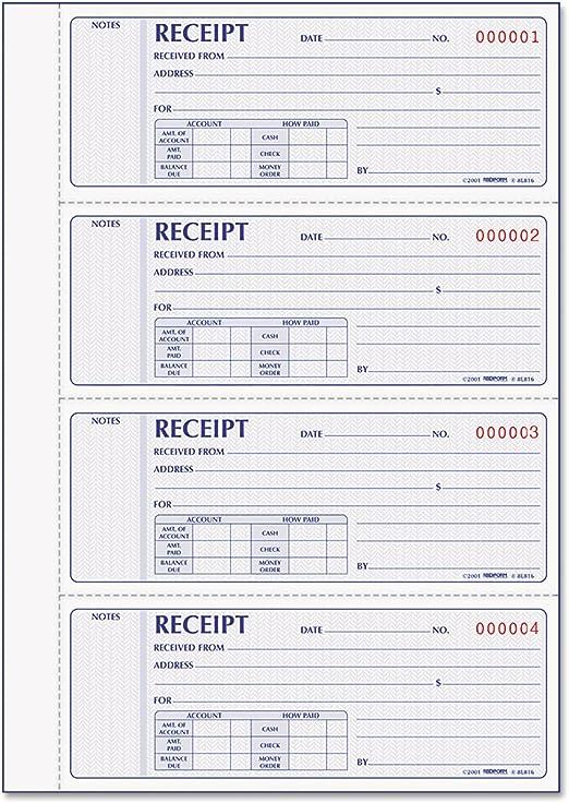 RED8L816 Money Receipt Book