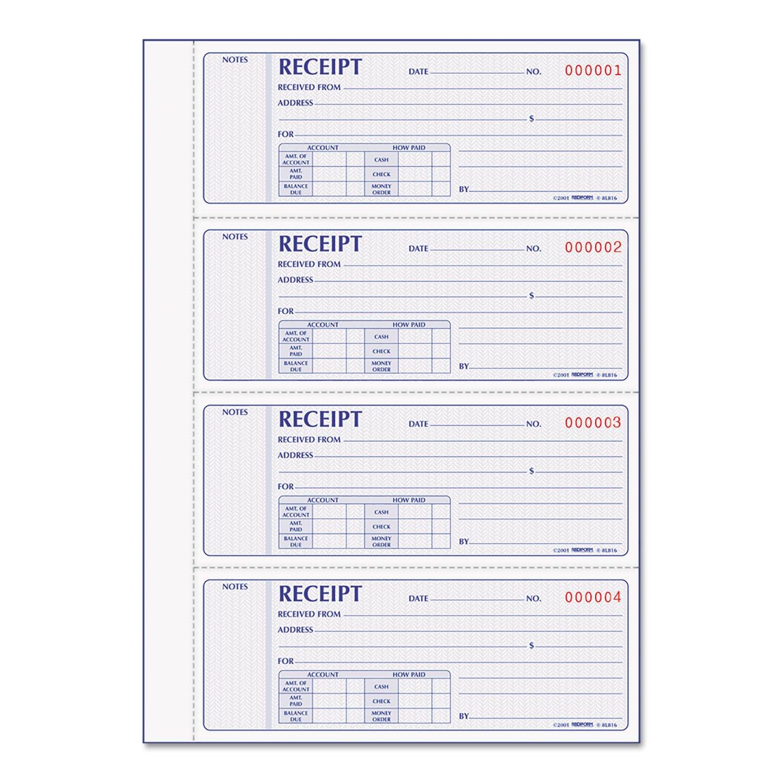 RED8L816 - Receipt Book by Rediform
