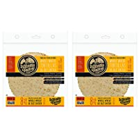 La Tortilla Factory High Fibre Large Whole Wheat Tortillas, 8-Pack of Non-GMO Tortillas, 496gm (Set of 2 8 Pack Large)