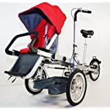 STROLLER BIKE. Folding Bicycle Stroller. 3 Speed. 3 Wheels. For ride Mother and Baby. First Family Bike for walks. TRANSFORMS FROM A BIKE STROLLER TO A REGULAR STROLLER.