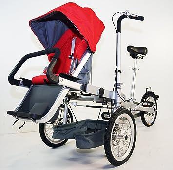 Amazon.com : STROLLER BIKE. Folding Bicycle Stroller. 3 Speed. 3 ...