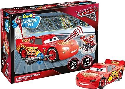 Lightning Mcqueen Characters >> Lightning Mcqueen Von Revell Junior Kit Disney Cars 3 Cooler Bausatz Fur Kinder Ab 4 Jahren Zum Schrauben Basteln Und Spielen Robust Mit Light