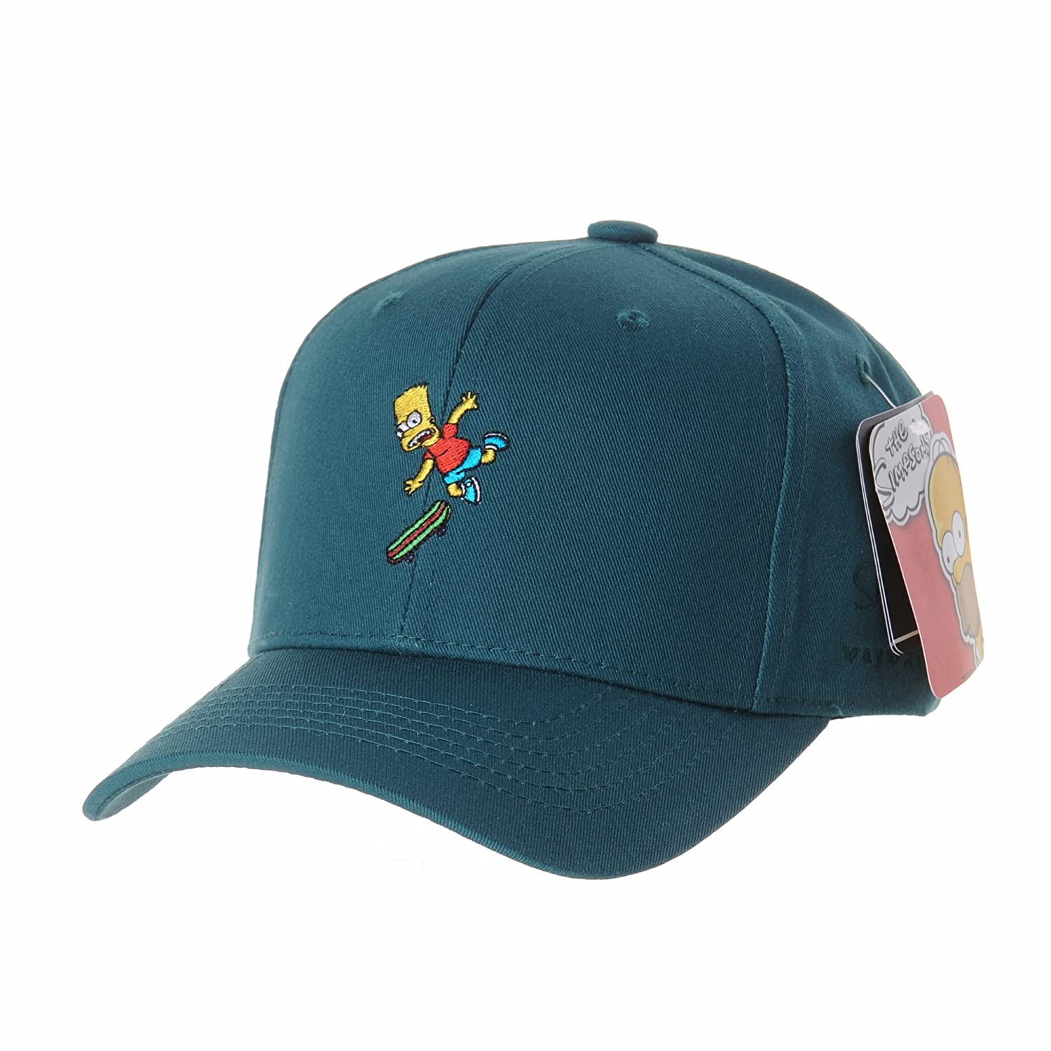 WITHMOONS Gorras de béisbol gorra de Trucker sombrero de The Simpsons Ball  Cap Bart Skateboard Matt 496dcd22b28