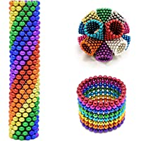 MagneDotz Magnetic Balls 3 mm 1010 Pieces Magnet Ball Cube Fidget Gadget Toys Rare Earth Magnet Office Desk Toy Games Multicolor Beads Stress Relief Toys for Adults