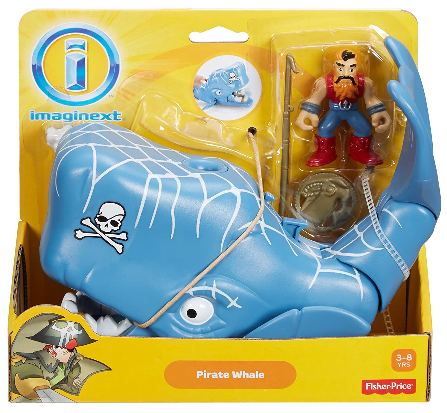 Amazon.com: Fisher-Price Imaginext Pirate Whale: Toys & Games