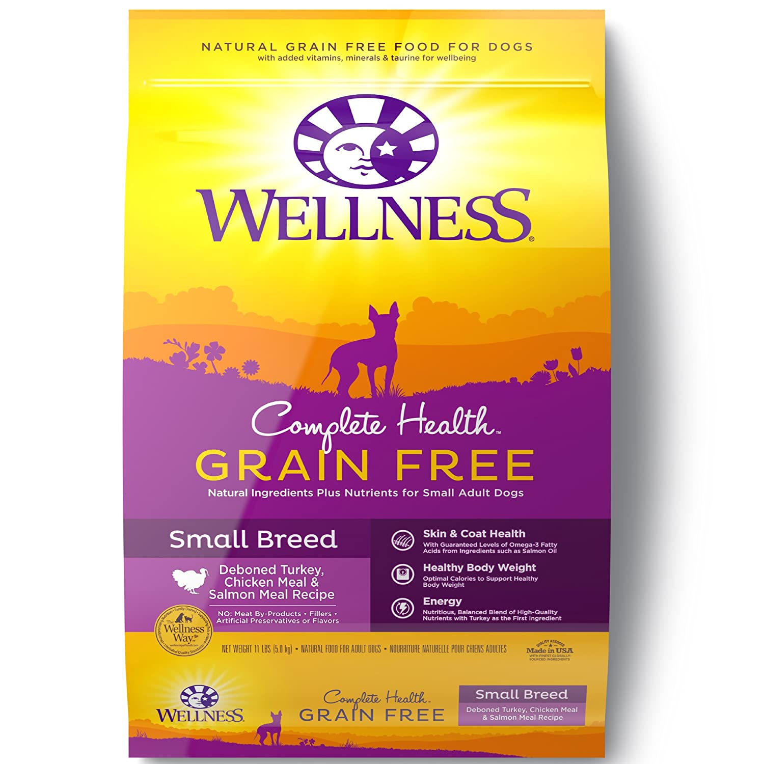 Wellness Complete Health Natural Grain Free Dry Dog Food Small Breed Turkey, Chicken Salmon