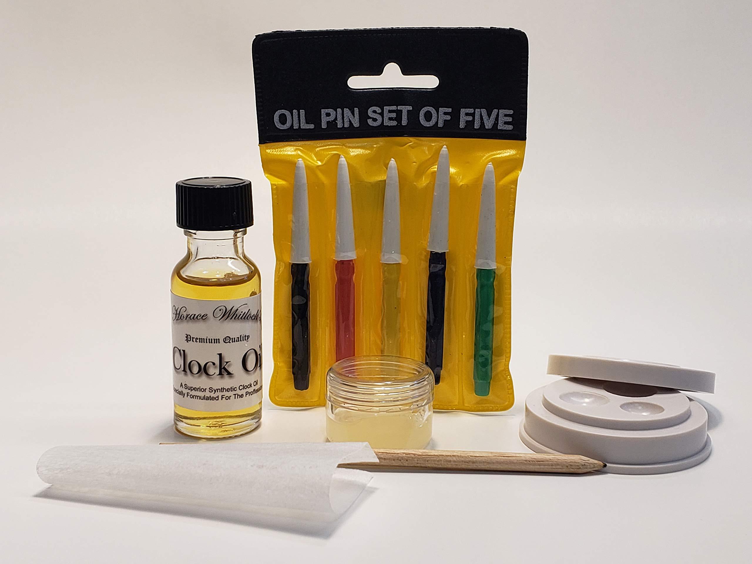 Horace Whitlock Synthetic Clock Oil KIt (10 Piece Kit)