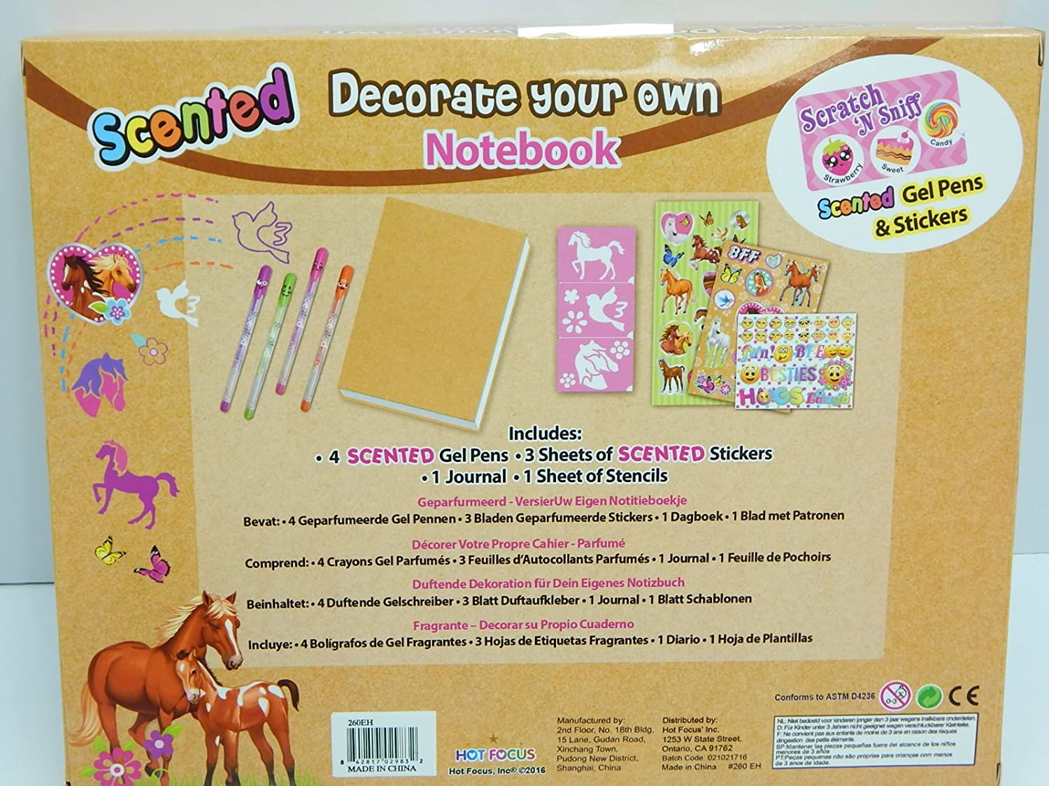 Hot Focus Scented Decorate Your Own Notebook #260EH